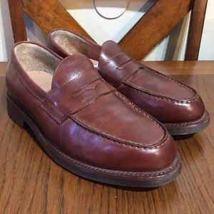 Polo By Ralph Lauren Brown Leather Penny Loafers